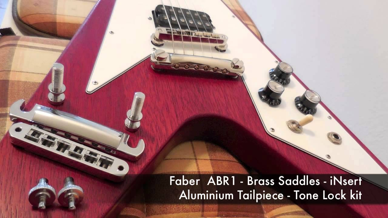 Gibson ABR Nashville Bridge & Tailpiece Replacement - Upgrade by Faber