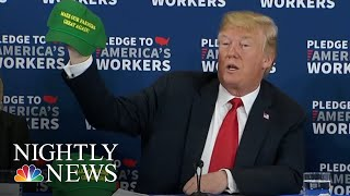 Manufacturers Feel The Impact Of Retaliatory Tariffs As Trump Touts Trade Policy | NBC Nightly News