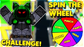 *SPINNING* THE WHEEL CHALLENGE! (ROBLOX POWER SIMULATOR)