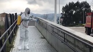 UME desplaza a Cantabria 97 militares para ayudar en desinfección