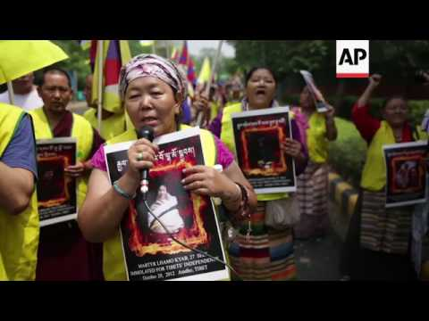 Tibet activists hold anti-China protest