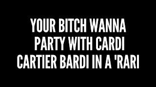 Cardi B - Bartier Cardi ft. 21 Savage Lyrics
