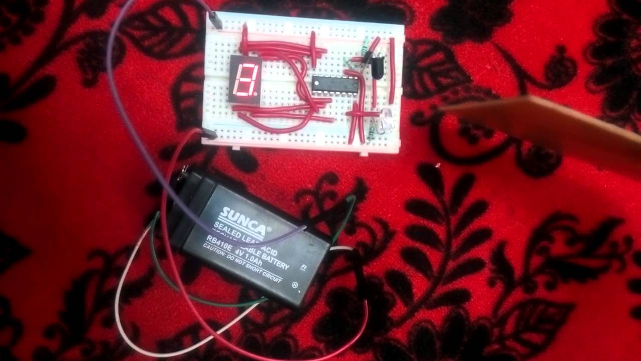 Object Counter On Breadboard Youtube Alternate Switching Led Circuit Using Ic 555 Gadgetronicx