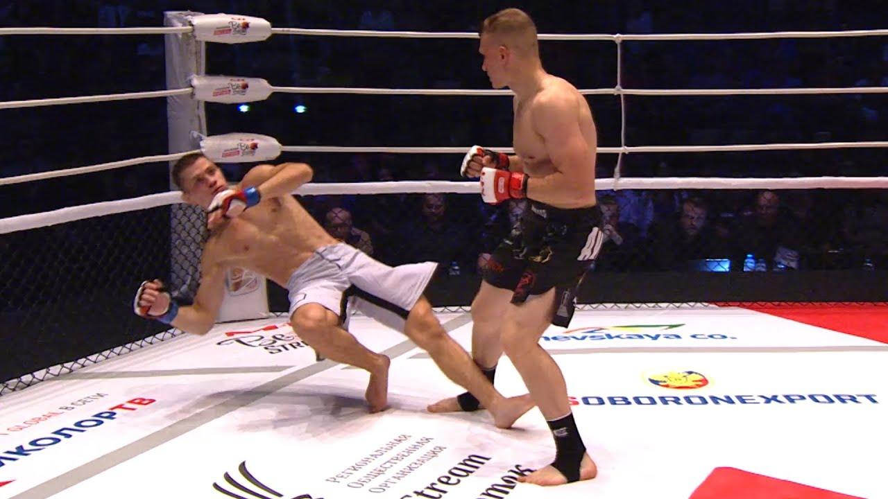 БОКСЕР вырубил БОРЦА! Брутальный НОКАУТ с ОДНОГО УДАРА! Медведев vs Тихонюк