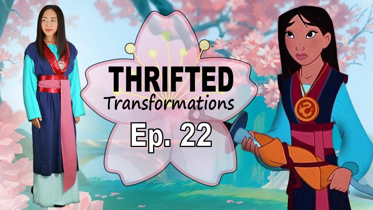 Thrifted Transformations Ep 22 Diy Mulan Costume Youtube
