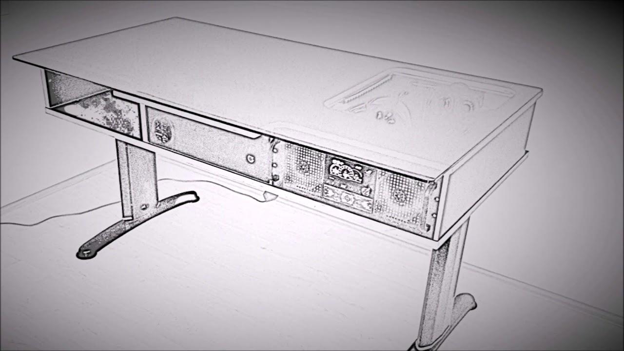 pc case mod computertisch armata c1 mit integrierter hardware youtube. Black Bedroom Furniture Sets. Home Design Ideas