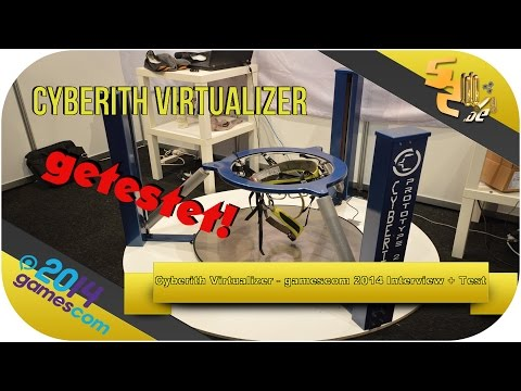 Cyberith Virtualizer getestet! - gamescom 2014 Interview + Praxis [german/deutsch] HD+