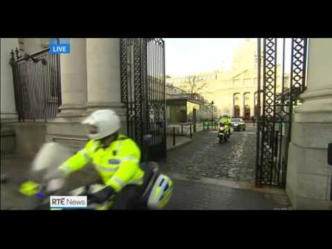 Enda Kenny leaves to dissove the 31st Dail