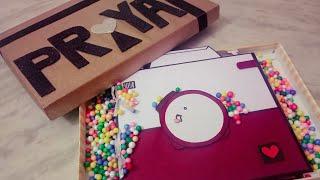 Camera scrapbook #birthday greeting card #gift box  #chocolates