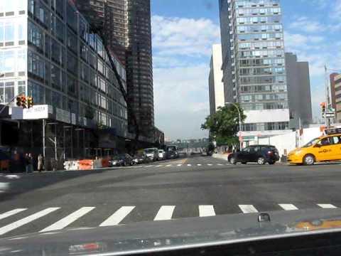 Driving in Manhattan New York