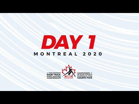 LIVE 🔴 | Day 1 | Four Continents Short Track Championships Montrèal 2020 | #4ContsShortTrack