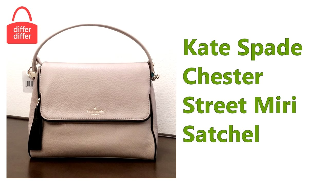 Kate Spade Chester Street Miri Satchel WKRU4076 - YouTube 0649481527019