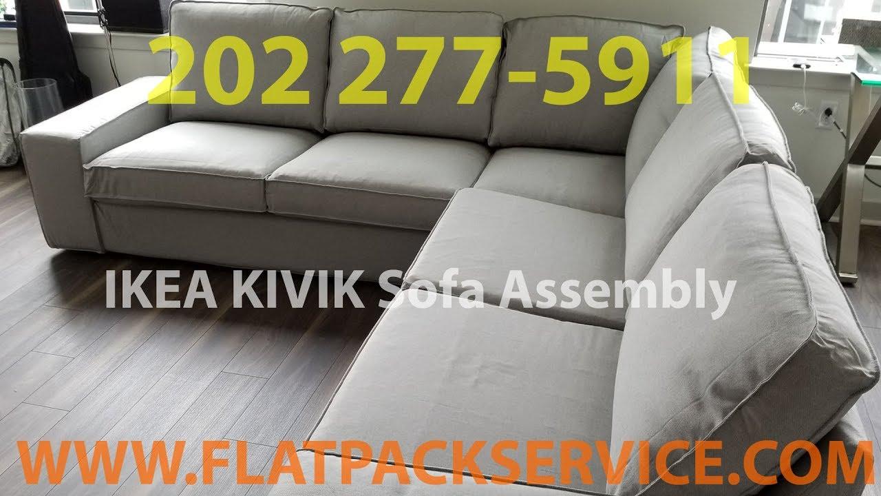 IKEA KIVIK Sofa assembly service in Washington DC MD VA by Flatpack  Assembly 202 277-5911
