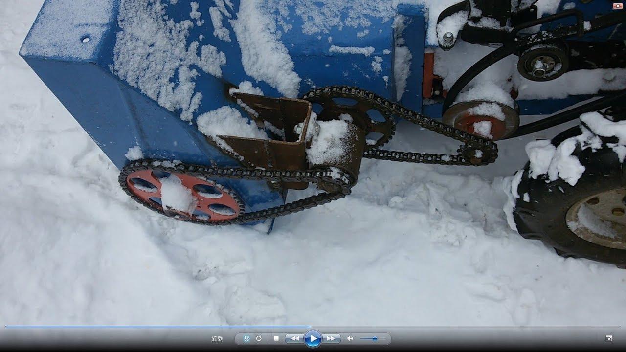 Обзор самодельного шнеко роторного снегоуборщика. Борьба с глубоким снегом.