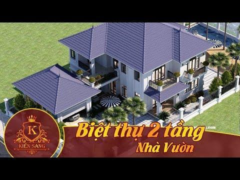 Bản vẽ mẫu thiết kế kiến trúc biệt thự nhà vườn đẹp – Kiến Sang