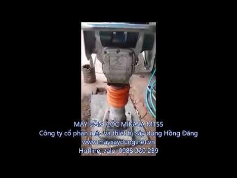 máy đầm cóc cũ, máy đầm cóc mikasa mt55, máy đầm cóc, máy đầm cóc nhật 0988220239 - YouTube