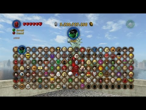 LEGO Marvel Super Heroes - All Playable Characters Unlocked ...