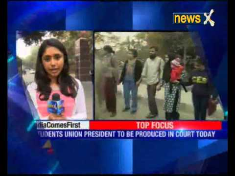 JNU students' union president Kanhaiya Kumar to be produced in court today