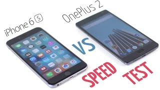 oneplus 2 vs iphone 6s plus speed test 320 vs 750