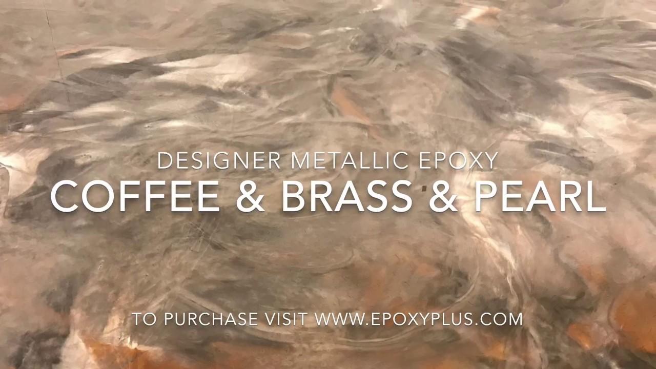 Coffee Amp Brass Amp Pearl Epoxy Coating Youtube
