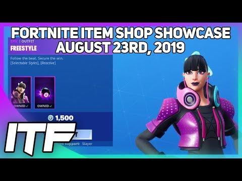 Fortnite Item Shop *NEW* FREESTYLE SKIN! [August 23rd, 2019] (Fortnite Battle Royale)