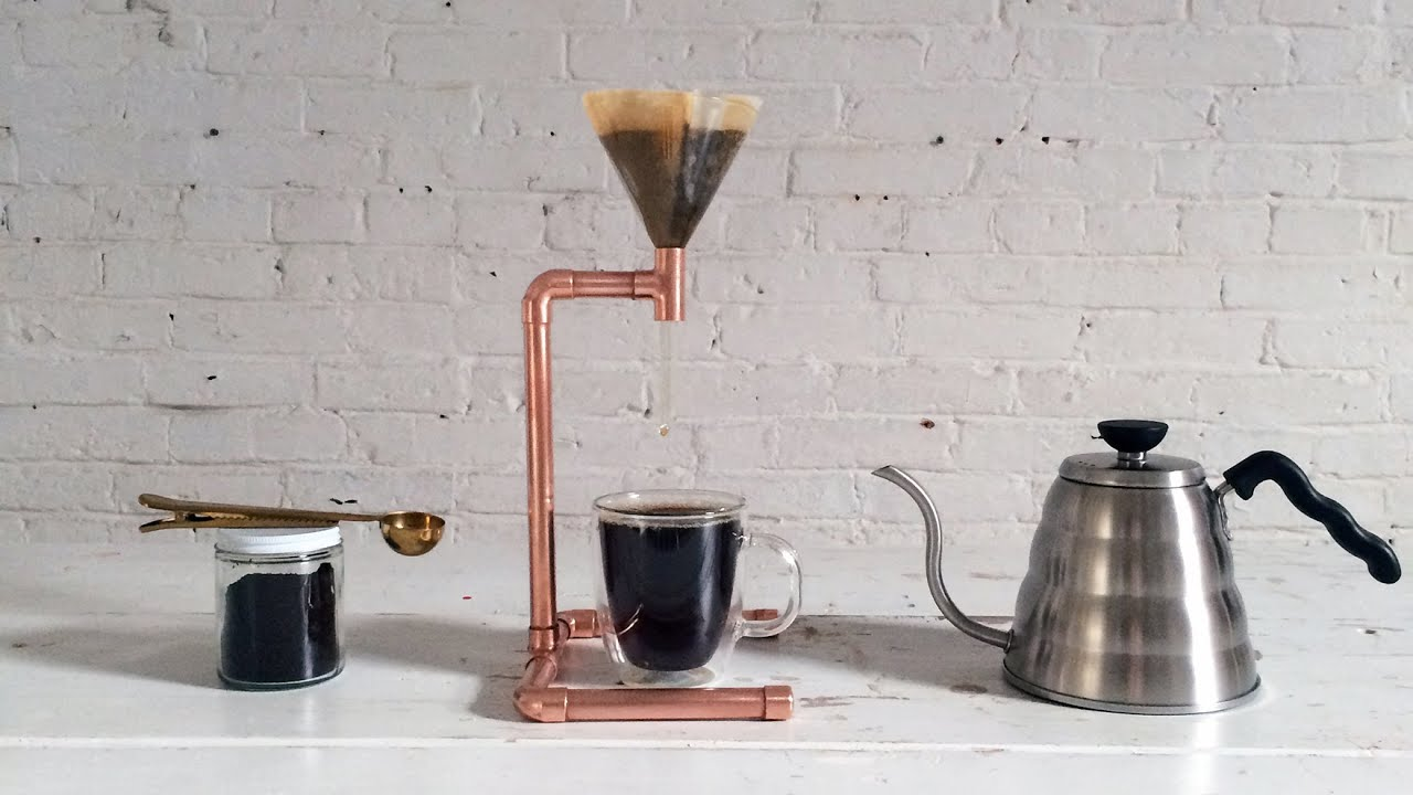 how to make a diy coffee maker out of copper pipe youtube