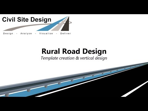 Civil Site Design Tutorial Rural Road Design Part 1 Youtube