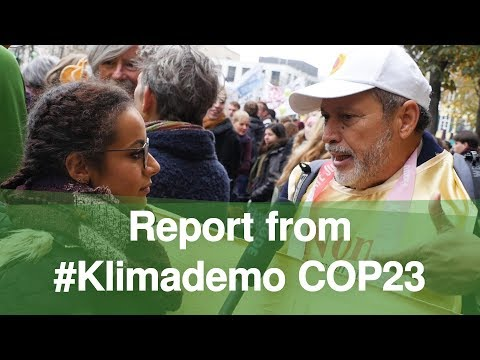 Report from #Klimademo COP23 Bonn