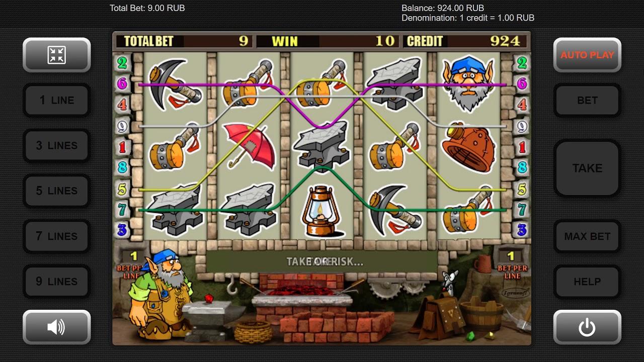 игровой автомат gnome (гном)