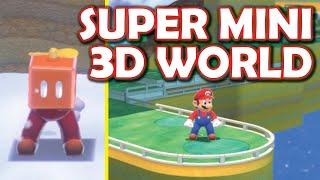 Mini Mario 3D World is hilarious! ALL LEVELS Super Mario 3D World smaller levels mod!
