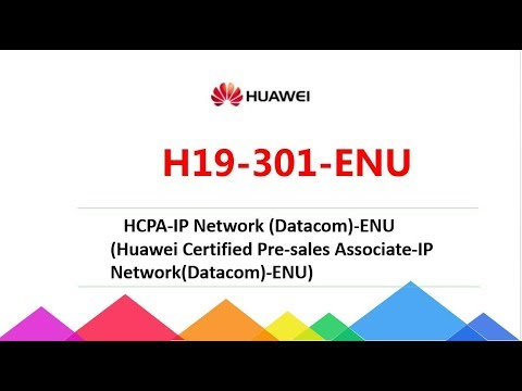 [New Update] HCS-Pre-sales H19-301-ENU HCPA-IP Network (Datacom) exam dumps|Passcert