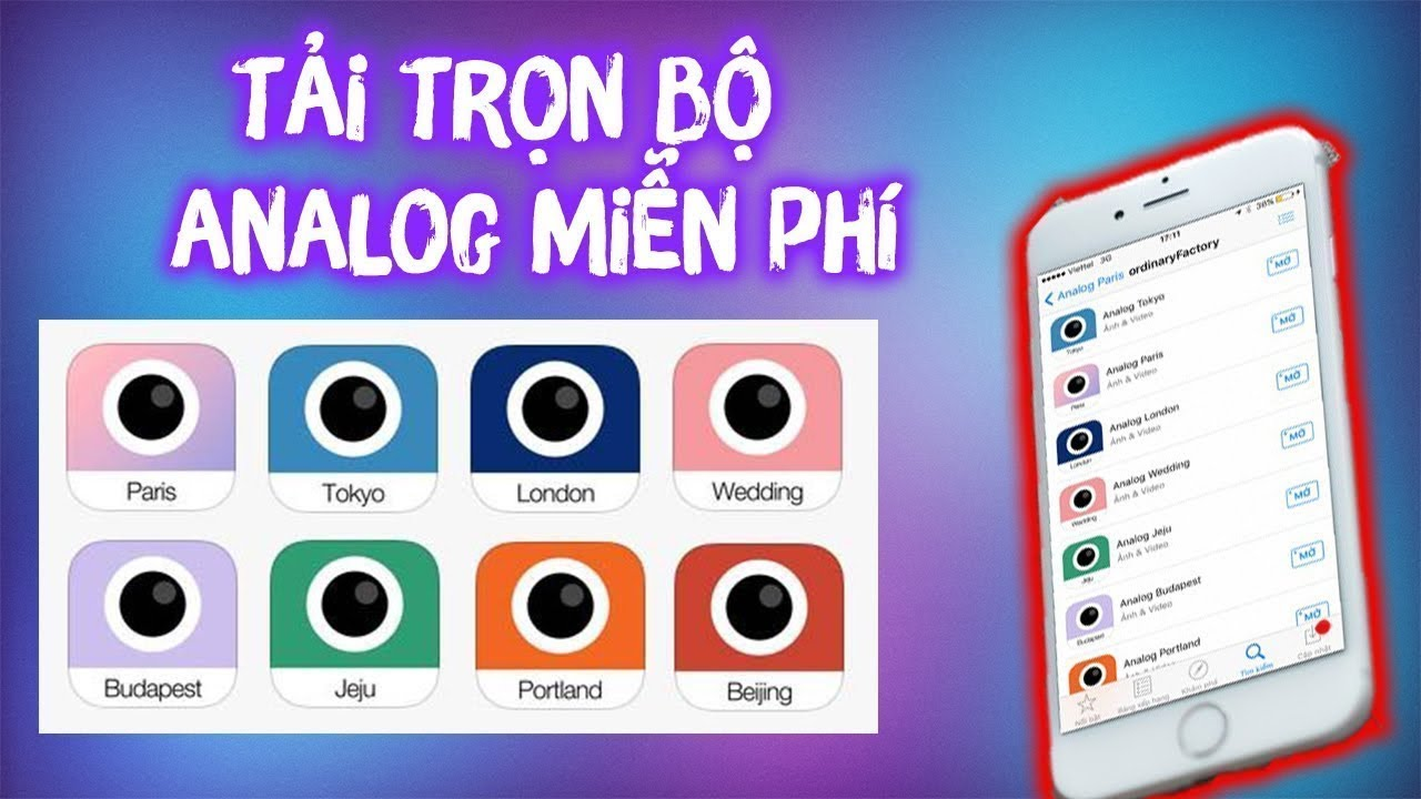 Hướng dẫn tải Full Analog cho iphone ( Analog Full Free for Iphone )  | VSCO FULL FREE