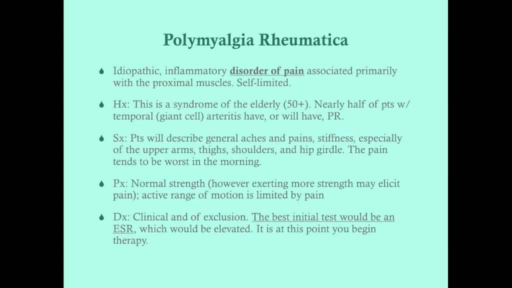 Download Polymyalgia Rheumatica - CRASH! Medical Review Series