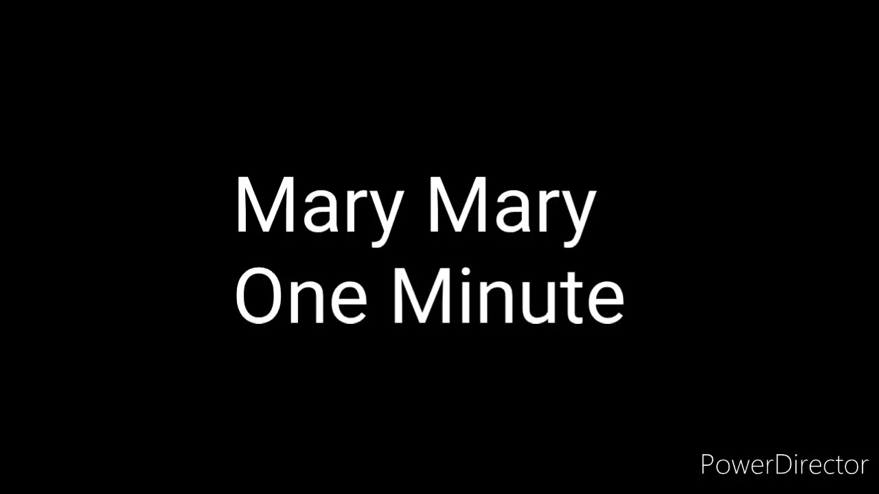 Download Mary Mary-One Minute
