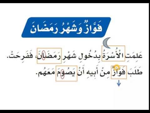 درس فواز وشهر رمضان قراءة وشرح للصف الأول الابتدائي الفصل الدراسي الثاني Youtube