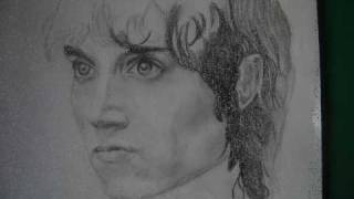 how to draw frodo step by step
