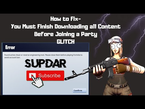 *FIX* Fortnite Save The World- You Must Finish Downloading All Content Before Joining  Party GLITCH