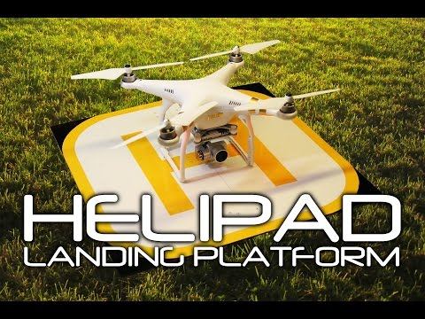 DIY FOLDING HELIPAD - Drone Landing Platform - Homebase for your Drone