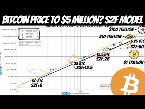Plan B's Stock-to-Flow Model Predicts $5,000,000 Per Bitcoin! BTC Supply Shortage is Real!!