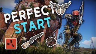 The PERFECT START to a GREAT WIPE! - Rust Solo Survival #1