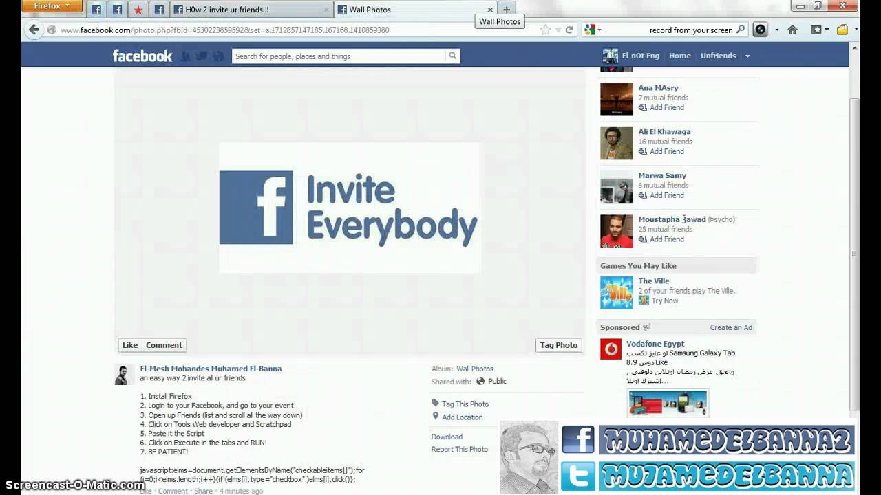 How To Invite All Your Friends on FaceBooK