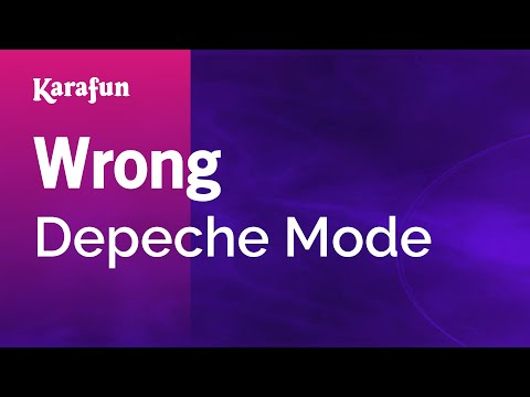 Karaoke Wrong - Depeche Mode *