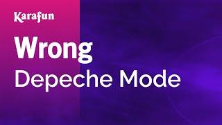 Karaoke Wrong - Depeche Mode *