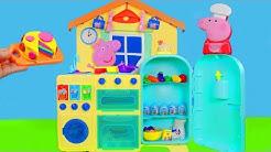 Peppa Wutz Unboxing: Neue Spielspaß Küche, Play Doh Knete, Schorsch & Pig Familie für Kinder deutsch