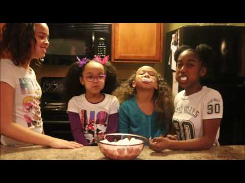 Chubby Bunny Challenge FAIL | With Zaria & friends