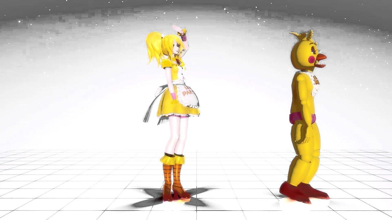 【MMD X FNAF】純情スカート-Junjou Skirt【TOY CHICA-TEST MODEL