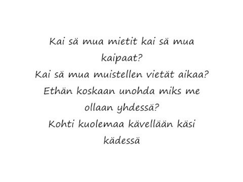 rakastan sinua ikuisesti runo Iisalmi