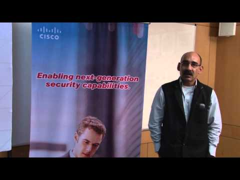 Col Anand NIIT Tech speaking on DSCI-Cisco Security Thought Leadership Program