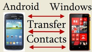 Transfer Contacts From Android To Windows Phone Or Windows To Android Without Using Any Software(Video tutorial to transfer contacts from Android Phone to Windows Phone and Windows Phone to Android phone without downloading or installing any app or ..., 2013-09-24T05:19:52.000Z)