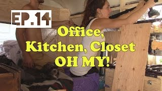 Tiny Home [ep.14] Closet Organization, Diy Kitchen, Small Office Space